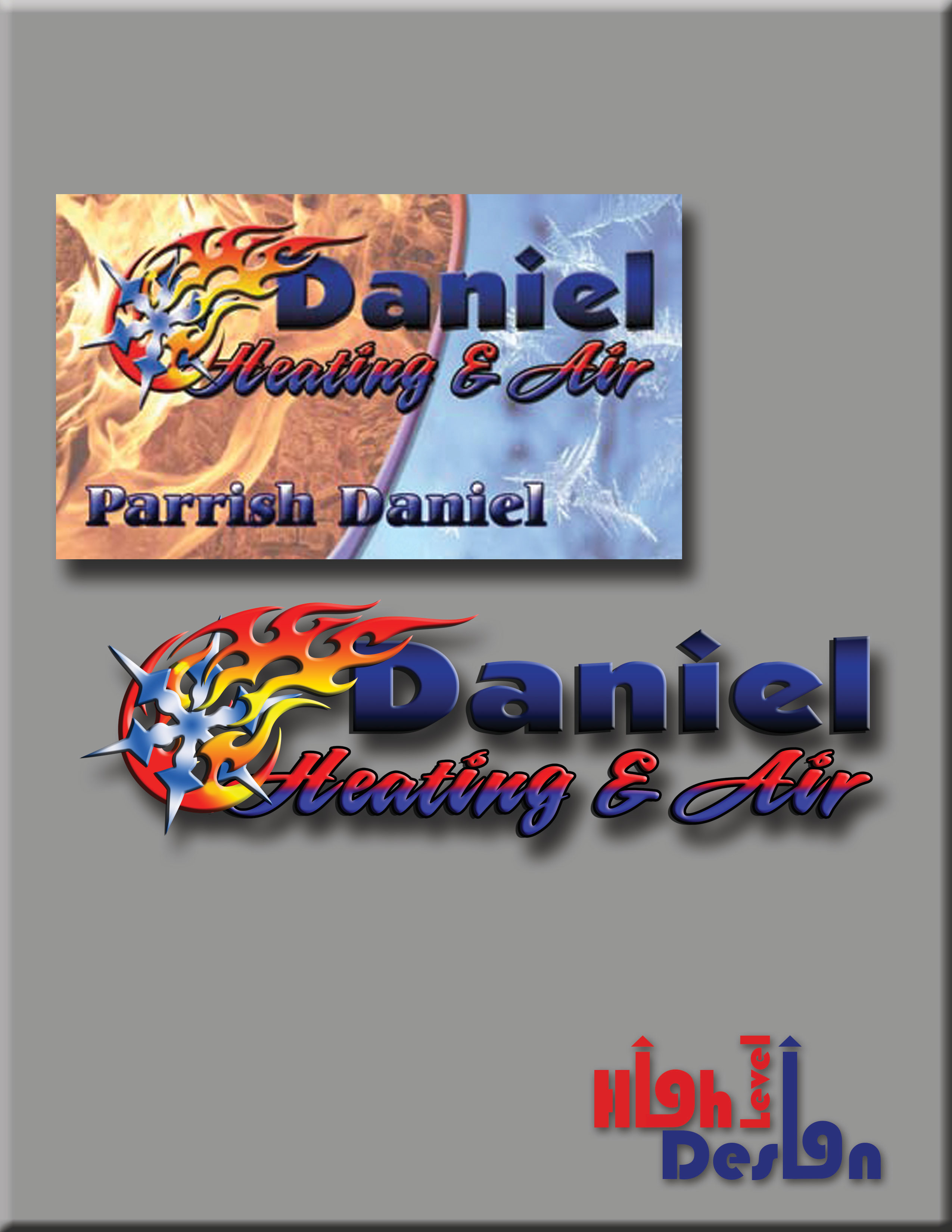Daniel Heating And Air Business Card And Logo